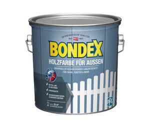Bondex 2er-Set Holzfarbe für den Außenbereich, weiß, je ca. 2,5 l