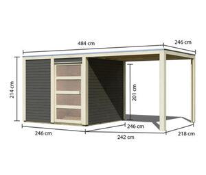 Karibu-Designhaus »Quentin 1«, mit Anbau