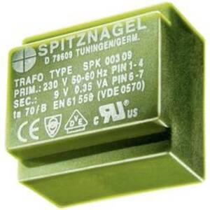 Spitznagel SPK 03806 Printtransformator 1 x 230 V 1 x 6 V/AC 3.8 VA 633 mA
