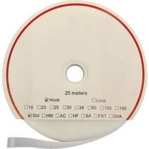 FASTECH® T0101600000325 Klettband zum Aufkleben Hotmelt Haftteil (L x B) 25000 mm x 16 mm Weiß 25 m
