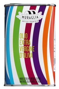Muraglia Olio Extra Vergine D'Oliva - Natives Olivenöl Extra, Schmuckdose Motiv Streifen 250ml  - Öl, Italien, 0.2500 L