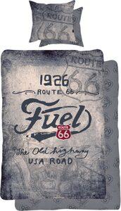 Wendebettwäsche »The old highway«, Route 66, mit Schriftzug