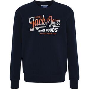 Jack & Jones Sweatshirt, gerippter Ausschnitt, für Jungen