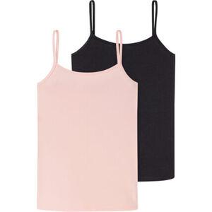Schiesser Cotton Essentials Spaghettiträger-Top, 2er-Pack, Single Jersey, für Damen