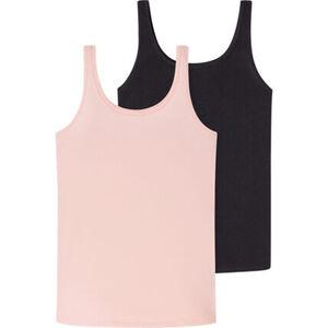 Schiesser Cotton Essentials Tank Top, 2er-Pack, Single Jersey, für Damen