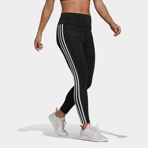 Leggings Fitness Damen schwarz