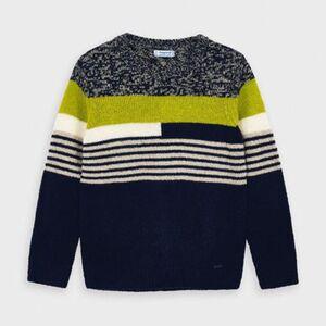 Pullover  blau/grün Gr. 128 Jungen Kinder