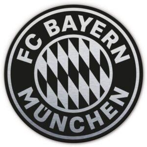Alu-Dibond mit Silbereffekt FC Bayern Logo, 70 cm schwarz