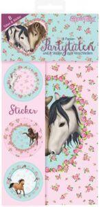 TapirElla Partytüten und Einladungskarten Pferde hellblau/rosa