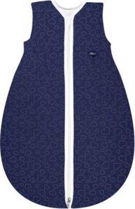 Kugelschlafsack Mäxchen Thermo Hearts navy Gr. 90 cm blau
