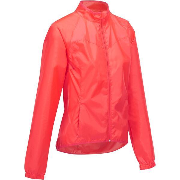 Fahrrad Regenjacke RC 100 Damen rosa