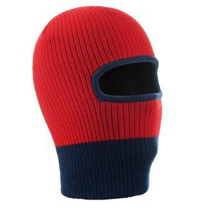 Ski Kopfhaube Strick Kid Kinder rot/blau