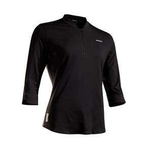 Tennisshirt TS Dry 900 3/4-Ärmel Damen schwarz