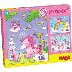 Haba Puzzle einhorn glitzerglück  300299  Rosa