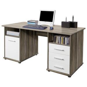 Livetastic Schreibtisch weiß sonoma eiche  Penta