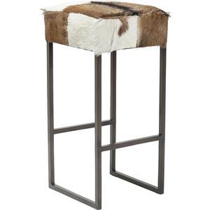 Kare-Design Tresenstuhl braun schwarz weiß