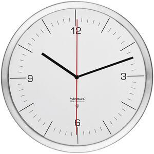 Blomus Wanduhr silberfarben weiß  65436