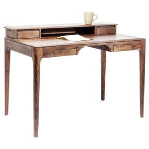 Kare-Design Schreibtisch sheesham massiv walnussfarben  Brooklyn Walnut  Holz
