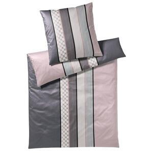 Joop! Bettwäsche makosatin grau rosa schwarz