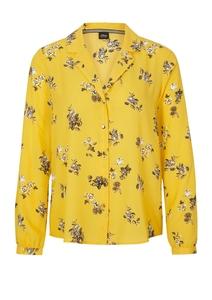 Damen Gemusterte Bluse mit Reverskragen