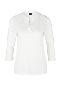 Damen Jerseyshirt mit Satinblende