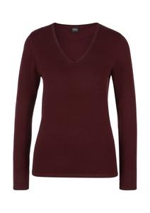 Damen Feinstrick-Pullover mit V-Ausschnitt