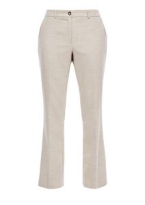 Damen Regular Fit: Straight leg-Hose aus Doubleface