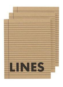 HEMA 3er-Pack Linierte Hefte, DIN A5