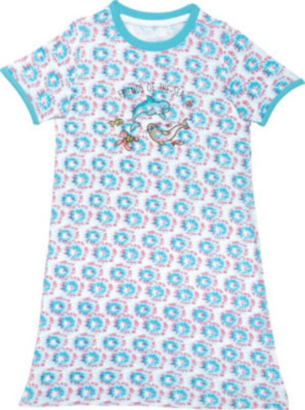 Erwin Müller Single-Jersey Kinder-Nachthemd  gemustert kurzarm 98 / 104