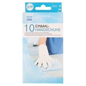 10er-Pack Einmalhandschuhe, weiß