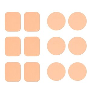 12er-Pack Make-up-Schwämmchen, nude, 2 verschiedene Formen