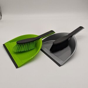 2-teiliges Kehr-Set, Handfeger und Kehrblech, Kunststoff