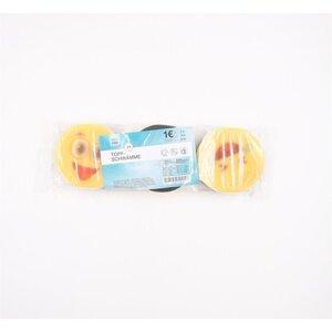 3er-Pack Topfschwämme Smiley-Design Küchenschwämme Schwämme 8 cm gelb