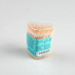 500er-Pack Zahnstocher im Halter, 6,5 cm, Bambus