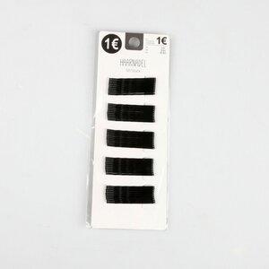 50er-Pack Haarnadeln, ca. 4,5 cm, Metall, schwarz