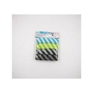 fresh & clean Mikrofaser Tücher-Set Tücher Tuch putzen, 4-teilig, bunt gestreift