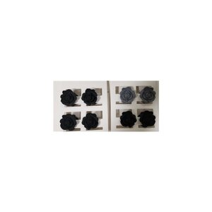 Haarkrebs, Rose, 4er-Pack, ca. 3 x 1,5 cm, verschiedene Farben