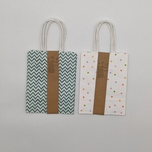 2er-Pack Geschenktaschen, Papier, verschiedene Ausführungen