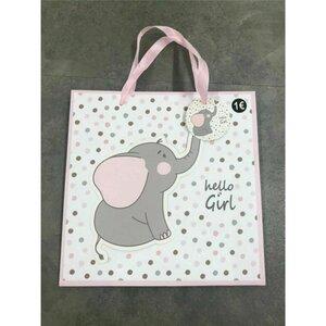 Baby-Geschenktasche für Mädchen oder Jungen, ca. 25 x 25 x 10 cm