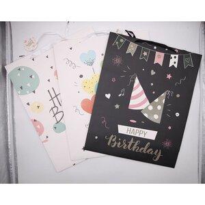 Geburtstagstasche, Papier, 50 x 40 x 25 cm, verschiedene Designs