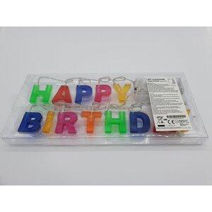 "LED Lichterette, ""Happy Birthday"", 200 cm, bunt"