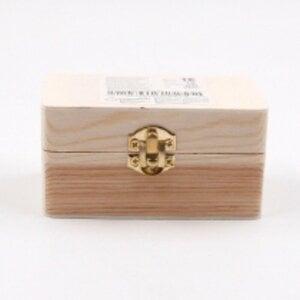 """Aufbewahrungsbox """"Holztruhe"""" mit Klappdeckel, ca. 10 x 6 x 5 cm, natur"""
