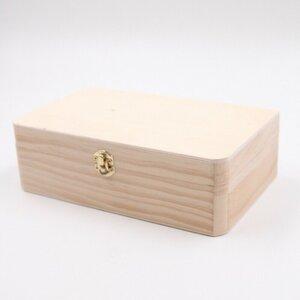 Holzbox Holzkiste mit Klappdeckel, dekorative Aufbewahrungsbox, 22 x 13 x 7 cm