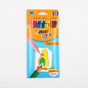 12er-Pack BIC Kids Buntstifte Tropicolors, bruchsichere Mine, Sechskantform