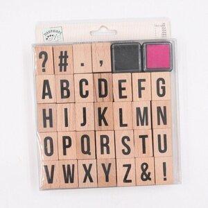32 Buchstabenwürfel Holzstempel DIY Stempelwürfel Alphabet 2 Farben