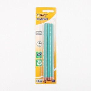 BIC Evolution Bleistifte Zeichenstifte HB 10er-Pack, holzfrei, bruchsicher