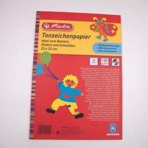Herlitz Tonzeichenpapier/Zeichenblock 20 Blatt, ca. 23 x 33 cm, bunt