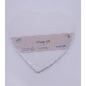 Leinwand, Herzform, 30 cm, weiß-gestrichen