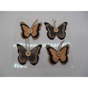 3D Sticker, Schmetterling, 4er-Pack, verschiedene Designs