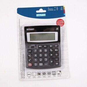 Stylex Taschenrechner mit LCD-Anzeige Tischrechner, große Tasten, schwarz